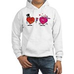 Romantic Heart Giving Flowers Hoodie