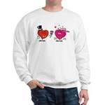 Romantic Heart Giving Flowers Sweatshirt