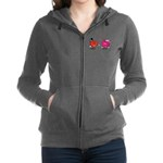 Romantic Heart Giving Flowers Zip Hoodie