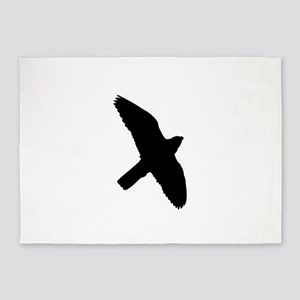 Peregrine Falcon Silhouette 5'x7'Area Rug