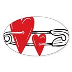 Baby Pin with Hearts Sticker