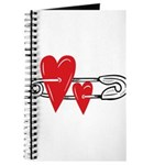 Baby Pin with Hearts Journal