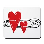 Baby Pin with Hearts Mousepad
