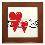 Baby Pin with Hearts Framed Tile