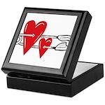 Baby Pin with Hearts Keepsake Box