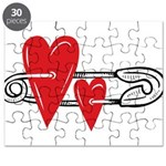 Baby Pin with Hearts Puzzle