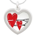 Baby Pin with Hearts Necklaces