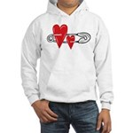 Baby Pin with Hearts Hoodie