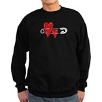Baby Pin with Hearts Sweatshirt