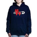 Baby Pin with Hearts Hooded Sweatshirt