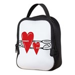 Baby Pin with Hearts Neoprene Lunch Bag
