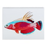 Colorful Reef Fish 14 Wall Calendar