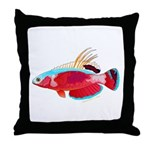 Spot-lined flasher wrasse Throw Pillow