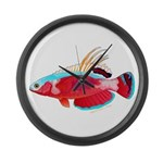 Spot-lined flasher wrasse Large Wall Clock