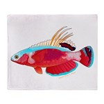 Spot-lined flasher wrasse Throw Blanket