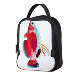 Spot-lined flasher wrasse C Neoprene Lunch Bag