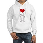Cartoon Stick Cupid Girl with Banner Hoodie