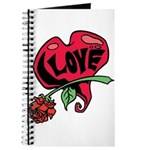 Love Heart with Rose Journal