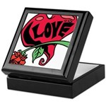 Love Heart with Rose Keepsake Box
