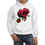 Love Heart with Rose Hoodie