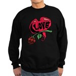 Love Heart with Rose Sweatshirt