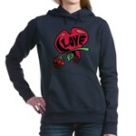 Love Heart with Rose Hooded Sweatshirt