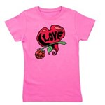Love Heart with Rose Girl's Tee
