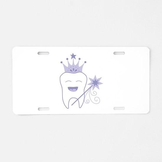 Tooth Fairy Aluminum License Plate