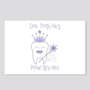 Dear Tooth Fairy, Please Stop Here Postcards (Pack