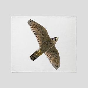 Peregrine Falcon Throw Blanket