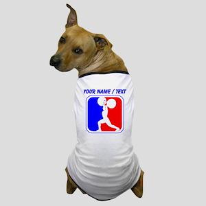 Custom Weightlifting League Logo Dog T-Shirt