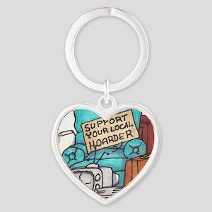 Hoarder Heart Keychain