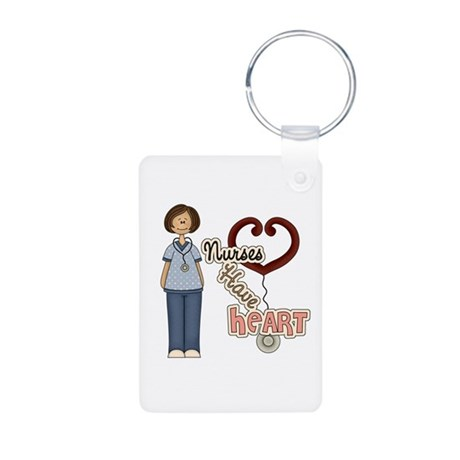 Nurses Have Heart 4 Aluminum Photo Keychain