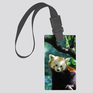 Sweet Red Panda Bear Large Luggage Tag