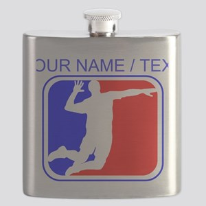 Custom Volleyball League Logo Flask
