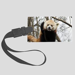 Funny Red Panda Large Luggage Tag