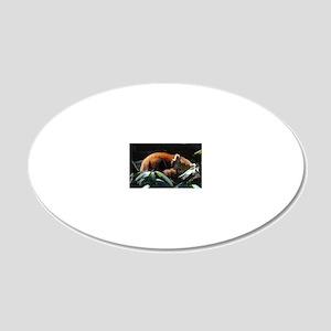 Sleeping Red Panda 20x12 Oval Wall Decal