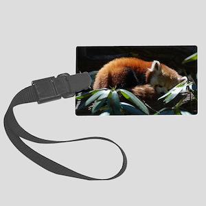 Sleeping Red Panda Large Luggage Tag