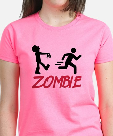 Zombie running person Women's Dark T-Shirt