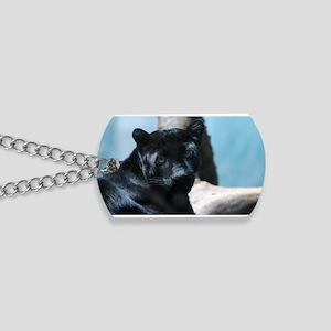 Curious Black Panther Cat Dog Tags
