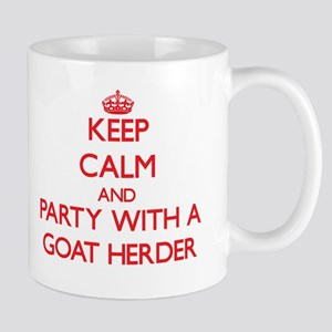 Keep Calm and Party With a Goat Herder Mugs