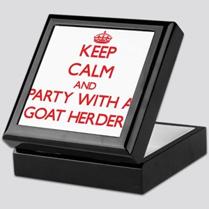 Keep Calm and Party With a Goat Herder Keepsake Bo
