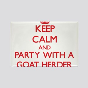 Keep Calm and Party With a Goat Herder Magnets