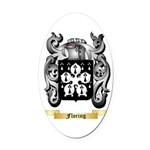 Floring Oval Car Magnet