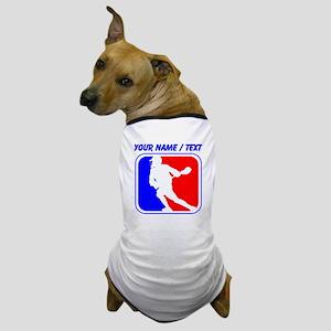 Custom Lacrosse League Logo Dog T-Shirt