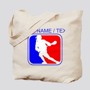 Custom Lacrosse League Logo Tote Bag