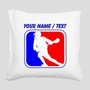 Custom Lacrosse League Logo Square Canvas Pillow