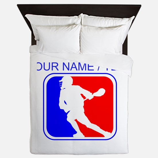 Custom Lacrosse League Logo Queen Duvet