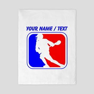 Custom Lacrosse League Logo Twin Duvet