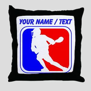 Custom Lacrosse League Logo Throw Pillow